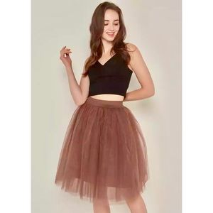 """Dresses & Skirts - NEW Tan Puffy Tulle/Tutu Skirt """"One Size Fits All"""""""